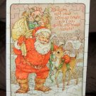Holiday Puzzle Greetings - Rudolph the Red Nosed Reindeer - Santa - Hallmark - Christmas - 1977