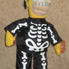 "15"" Homer Simpson Plush Skelly Skeleton Doll Applause Halloween Glow in the Dark Removable Mask"