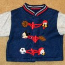 Disney 6/9 Months Spun Polyester Shirt / Pants Set - Mickey Mouse - EUC