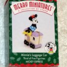 Minnie's Luggage Car - Hallmark Merry Miniatures - 3rd in the Mickey Express series - 1998