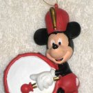 Mickey Mouse Christmas Ornament Lot of 2 Bass Drum Player Marching Band MM Holiday Parade Hallmark