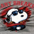 Snoopy 2X / XXL / 2XL Tee Shirt Heartbreaker Short Sleeve T - Joe Cool - Peanuts Gang - NWOT