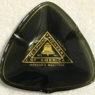 Telephone Pioneers of America Smoked Brown Glass Ashtray Lot 50th Year 174465 Jackson's Mill 1963