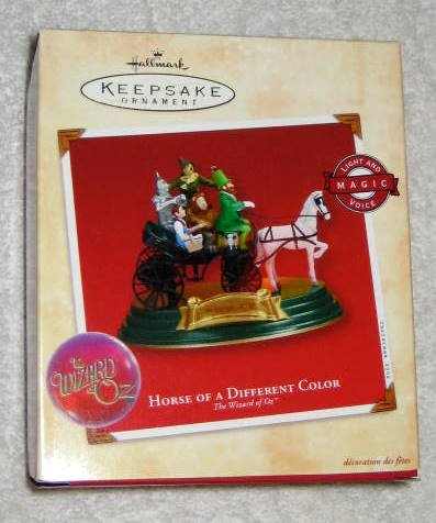 Horse of a Different Color Hallmark Keepsake Ornament The Wizard of Oz Magic Light & Voice 2002 NIB