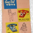 Gong Bell Toys Mfg Co Product Line Insert Pamphlet Catalog Ad Advertisement 1950