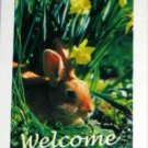 Bunny with Daffodils Decorative Artist's Touch Garden Flag 28 x 40 Polyester New NIP Life's a Breeze