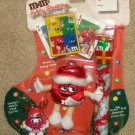 M&M M&M's Candies Holiday Stocking Playing Cards Plush Red Santa Cane Topper Figurine SEALED