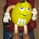 M&M's Candy Dispenser Lot of 5 M&M Red Blue Yellow Basketball Recliner Peanut Plain