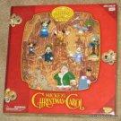 Mickey's Christmas Carol PVC Box Set 10 Figures Memory Lane Disney Holiday NIB Playing Mantis
