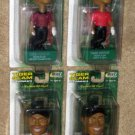 Tiger Woods Slam Bobblehead Set of Four 4 Bobble Head PlayMakers Upper Deck PGA Golf 2002 NIP