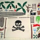 Playmobil Pirate Piece Lot Figures Swords Trees Cannons Sail Treasure Chest 5737 7969 Geobra