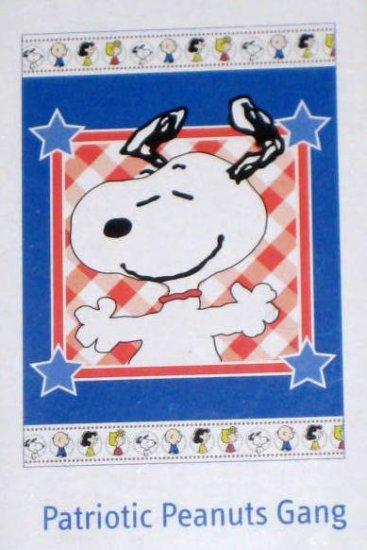 Patriotic Peanuts Gang Patchwork Decorative Garden Flag 13 x 18 Snoopy New NIP