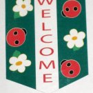 Ladybug Welcome Applique Decorative Garden Flag 28 x 40 Spring Summer New NIP