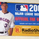 2002 Major League Baseball Official Fan Guide and Schedule Radio Shack Alex Rodriguez A-Rod