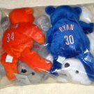 Salvino's Nolan Ryan Bammers Set of 4 Bears Beanbags Mets Angels Astros Rangers Factory Sealed