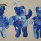 Salvino's Opening Day Sammy Sosa Bammers Lot of 3 Plush Bears Beanbags 21 Chicago Cubs 1999