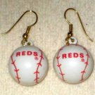 Cincinnatti Reds Baseball Earrings Red Legs MLB Redlegs Ear Rings Balls
