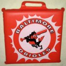 Baltimore Orioles Foam Padded Seat Cushion Vinyl RPS Auto Parts MLB Oriole Bird