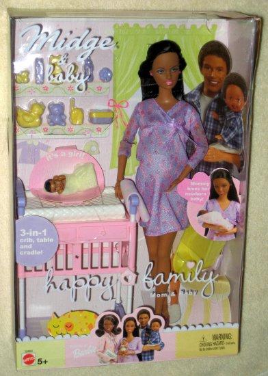 Sold Happy Family Pregnant Midge Barbie Doll Mom Baby Girl