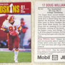 Washington Redskins 1988 Police Football Card Set 16 Cards Jello Mobil PACT Monk