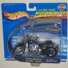 Harley Davidson 1:18 Die Cast Motorcycle Springer Softail Hot Wheels 88423 NIP