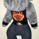 Harley Davidson Plush 14 Inch Bulldog with Tag HOG Biker Play By Play 1998