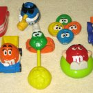 M&M Candies Character Burger King Kid's Club Toys Lot of 7 M&M's Red Green Blue Orange Yellow