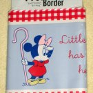 Mickey & Minnie Mouse Nursery Rhymes Wall Border Edging 5 Yards Disney 24328 Pre-pasted NIP