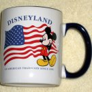 Mickey Mouse Ceramic Coffee Mug An American Tradition Since 1955 US Flag Walt Disney