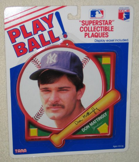 Don Mattingly Play Ball Superstar Collectible Plaque Tara Toy Corp New York Yankees MLB NIP