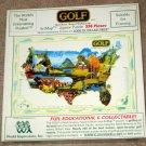Golf 550 Piece ArtMap Jigsaw Puzzle 1992 World Impressions Inc SEALED