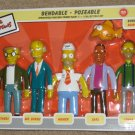 The Simpsons Bendable Poseable Figures Nuclear Power Plant Set Springfield Homer Simpson NIB