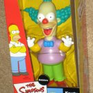 The Simpsons Krusty the Clown Bobbler Doll Bobblehead Bobble Head Nodder Playmates 2002 NIB