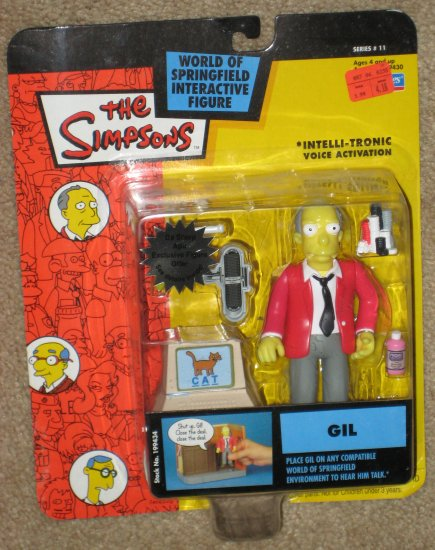 SOLD Gil Series 11 WOS Interactive Figure Simpsons Fox TV Show Playmates Toys World of Springfield