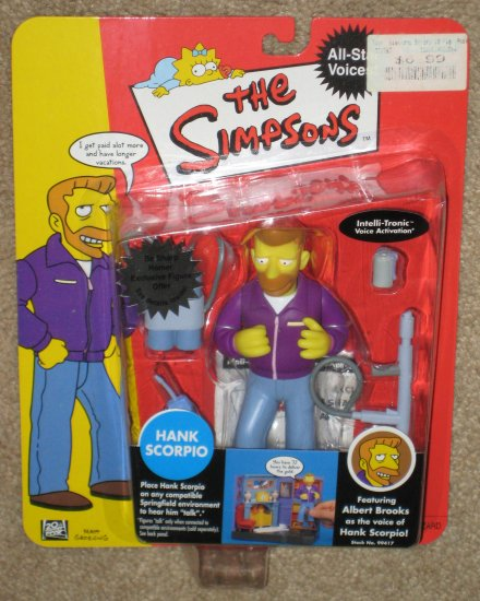 SOLD Hank Scorpio All Star Voices WOS Interactive Figure The Simpsons Playmates World of Springfield