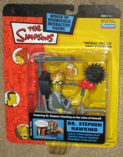 SOLD Dr Stephen Hawking Series 13 WOS Interactive Figure The Simpsons Fox TV Show Playmates Toys