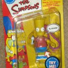 Talkin' Slurpin' Bart Simpson Clip On Figure The Simpsons Fox TV Show Playmates Toys