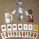 The Simpsons Lot Scratchy Cat Plush Playing Cards Duff Tin Plastic Bart Simpson Mug Calendar Fox TV