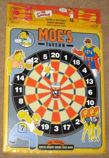 SOLD Moe's Tavern Magnetic Dart Board The Simpsons Dartboard Darts Homer Simpson Duffman Barney NIP