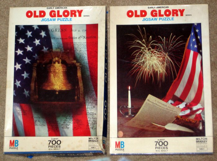 Old Glory Series 700 Piece Jigsaw Puzzle Lot Declaration of Independence Liberty Bell 4586-2 4586-1