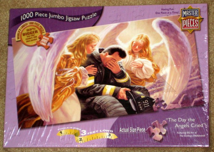 SOLD Day the Angels Cried 1000 Piece Jumbo Jigsaw Puzzle 911 NYPD MasterPieces 70331 SEALED 2001 NEW