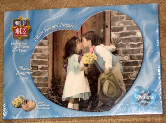 SOLD Ranch Romance Heart Shaped 500 Piece Jigsaw Puzzle MasterPieces Whimsies 30313 SEALED 1998 NEW