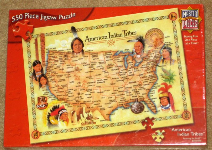 American Indians Jigsaw Puzzle Lot of 2 Storm Clouds Tribes SEALED NEW