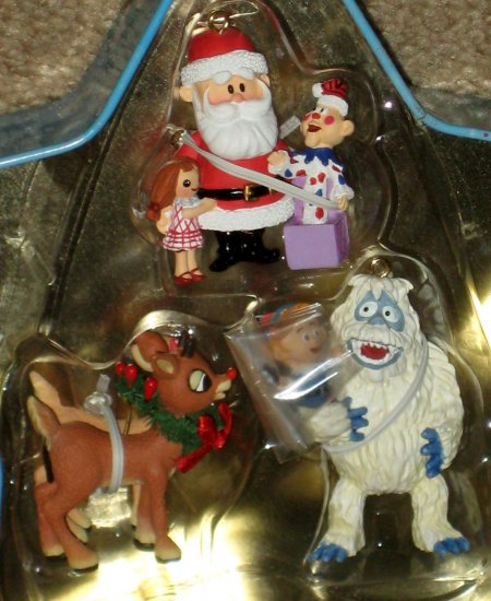 SOLD Rudolph the Red Nosed Reindeer Island of Misfit Toys Mini Ornament Set in Star Tin