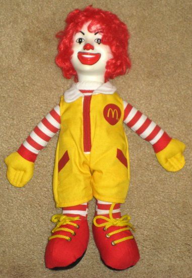 SOLD Ronald McDonald 15 Inch Plush Doll McDonald's Corp Clown 2004