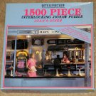 Joan's Diner 1500 Piece Jigsaw Puzzle Bits & Pieces 03-0417 Hidden Items COMPLETE
