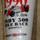 Indy 500 Drinking Glass Tumbler 1990 Indianapolis Emerson Fittipaldi 1989 Winner Hilton Race Winners
