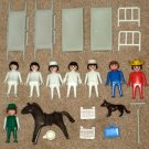 Playmobil Hospital Piece Lot Nurse Stretcher Bed Dog Horse Rake Klicky Figures Suitcase Geobra