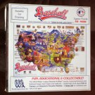 Major League Baseball ArtMap 550 Piece Jigsaw Puzzle World Impressions 1992 Complete