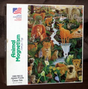 SOLD Animal Magnetism 1000 Piece Jigsaw Puzzle GAPF 945 Bragg COMPLETE 1990